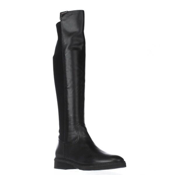 Marc Fisher Felissa3 Knee High Stretch Boots, Black