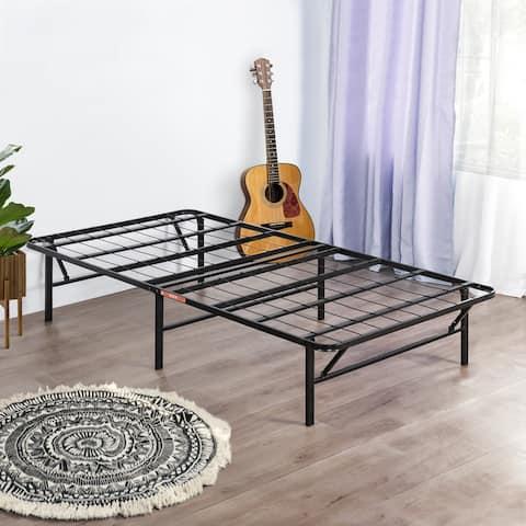 Sleeplanner Dura Metal Comfort Base Bed Frame, Twin