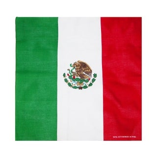 CTM® Cotton Mexican Flag Bandana - One size