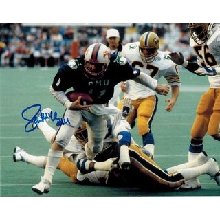 Lance McIlhenny Autographed SMU Mustangs 8x10 Photo