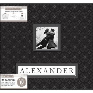 "K&Company Frame-A-Name Post Bound Album 12""X12""-Black"