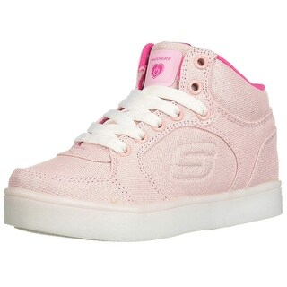 Skechers Kids Womens Energy Lights 10939L Denim/Pink 5 Big Kid M