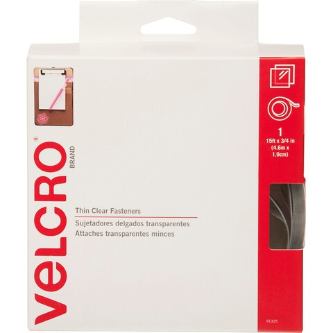 "Clear - Velcro(R) Brand Thin Fasteners Tape 3/4""X15'"