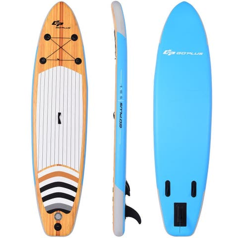 "10"" Inflatable Stand up Paddle Board Surfboard SUP with Bag - Multi"