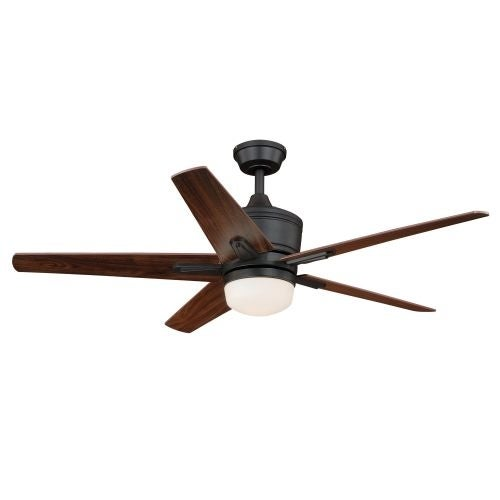 "Vaxcel Lighting F0028 Argus 52"" 5 Blade Indoor Ceiling Fan - Light Kit and Blades Included"