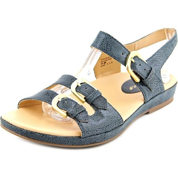 Earthies Verdon Women Open Toe Patent Leather Blue Sandals