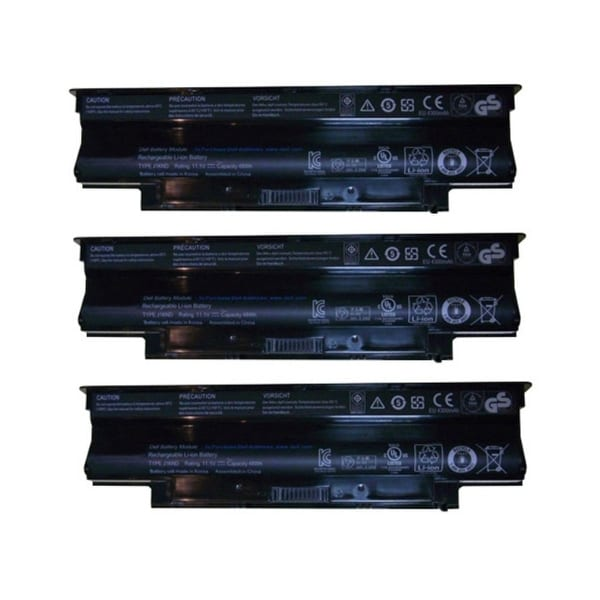 Replacement For Dell 4T7JN Laptop Battery (4400mAh, 11.1v, Lithium Ion) - 3 Pack