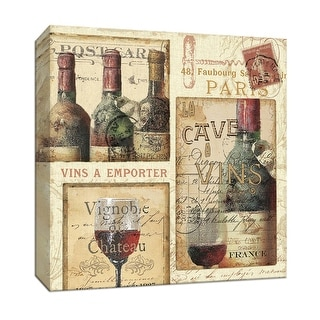 """PTM Images 9-152107  PTM Canvas Collection 12"""" x 12"""" - """"French Cellar II"""" Giclee Wine Art Print on Canvas"""