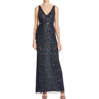 Aidan Mattox Womens Formal Dress Beaded Sequined - 0