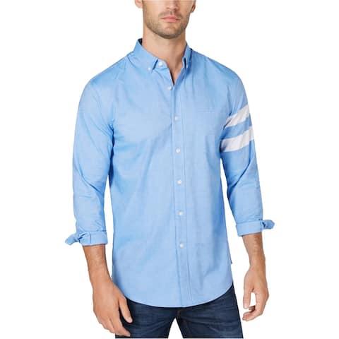 Club Room Mens Striped Sleeve Button Up Shirt