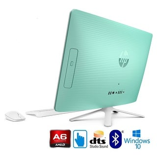 """HP 22-b072, AMD Quad-Core, 8GB, 1TB HDD, 21.5"""" Full HD Touchscreen All-in-One (Certified Refurbished) - Green"""