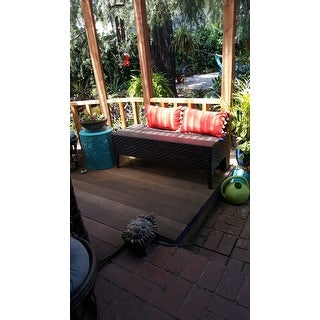 Shop Pe Wicker Outdoor Bench On Sale Free Shipping