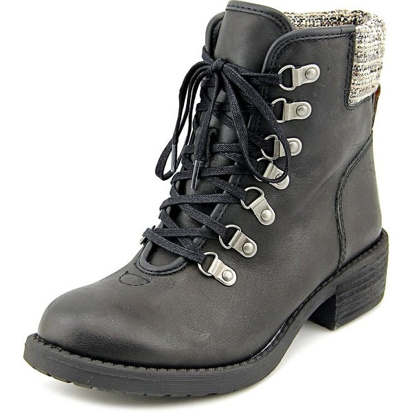 Lucky Brand Daxxter Women Round Toe Leather Ankle Boot