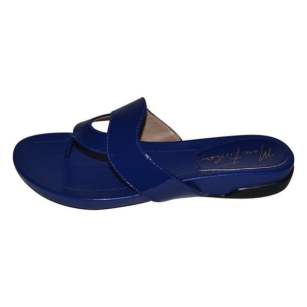 Marc Fisher Womens Anyssa Open Toe Casual Slide Sandals