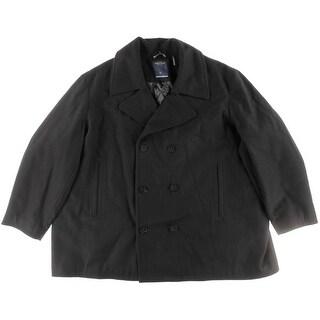 Nautica Mens Big & Tall Pea Coat Wool-Blend Collared - 5x