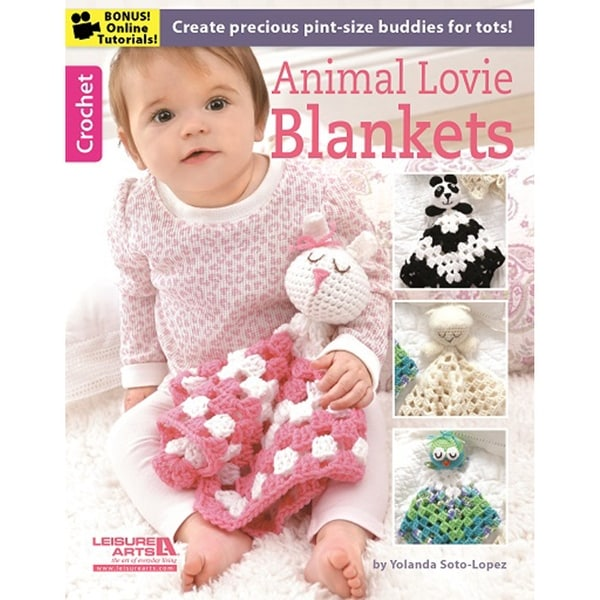 Leisure Arts-Animal Lovie Blankets