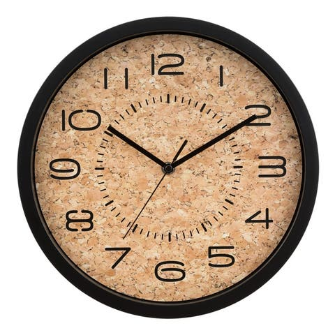 La Crosse Clock 404-3832 12-Inch Felix Cork Analog Quartz Wall Clock