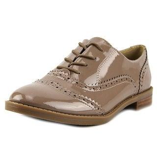 Franco Sarto Imagine Men  Round Toe Patent Leather Tan Oxford