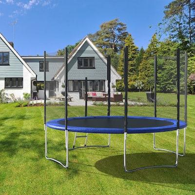 Trampoline with Enclosure Safety Net & Ladder