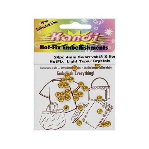 Kandi Swarovski Elements Crystal Pkg 4mm 24pc Light Topaz