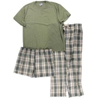 Majestic Mens 3PC Plaid Pajama Set - XL