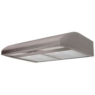 Air King EB36 220 CFM 36 Inch Wide Energy Star Certified Under Cabinet Range Hood with Dual 18 Watt Fluorescent Lights from the
