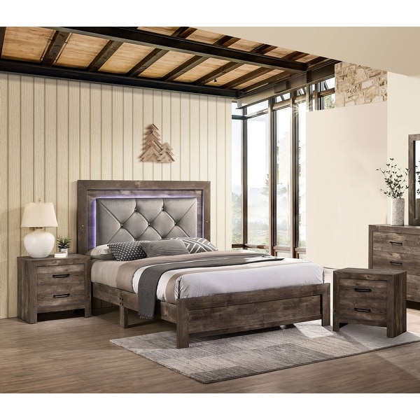 Furniture of America Ashland 3-piece Bedroom Set with 2 Nightstands. Opens flyout.