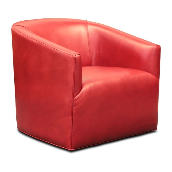 Citi Top Grain Leather Swivel Club Armchair with Waterfall Seat. Opens flyout.