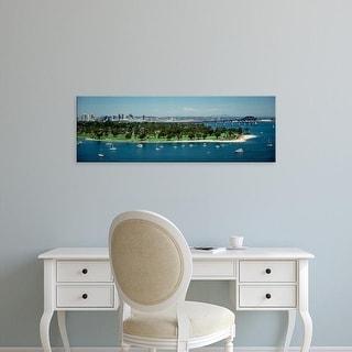 Easy Art Prints Panoramic Images's 'Bridge across a bay, Coronado Bridge, San Diego, California, USA' Canvas Art