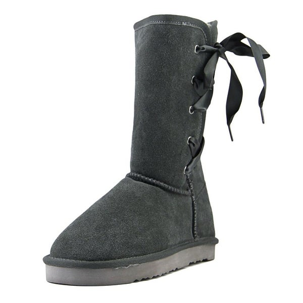 Style & Co Liciah Women Round Toe Leather Gray Boot