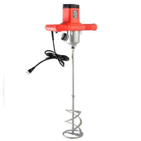 Costway Electric Mortar Mixer 1600W Dual High Low Gear 6 Speed Paint Cement Grout - as pic