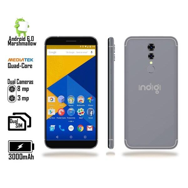 "Indigi® 2018 GSM UNLOCKED 4G LTE 5.6"" Android 6 SmartPhone [2SIM + QUAD-CORE + Fingerprint Scanner + Bluetooth 4.0] Black"