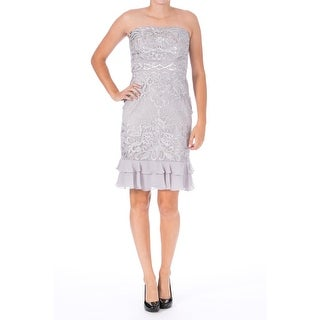 Sue Wong Womens Embellished Strapless Cocktail Dress - 6