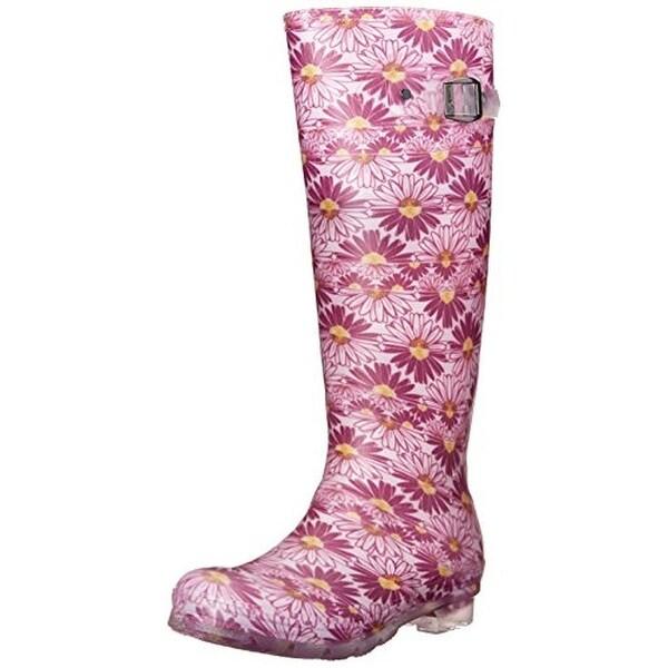 Kamik Womens Daisies Rain Boots Floral Print Knee-High