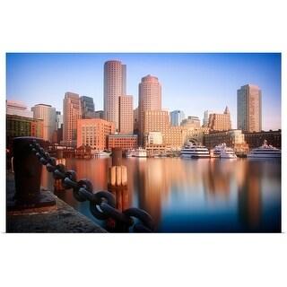 """""""Boston Harbor at sunrise, Massachusetts"""" Poster Print"""
