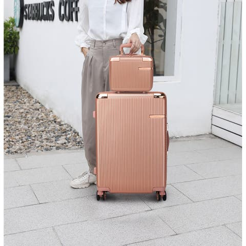 MKF Collection Tulum 2-piece carry-on luggage set by Mia K.
