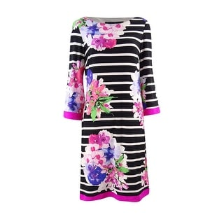 Jessica Howard Women's Floral Striped Sheath Dress