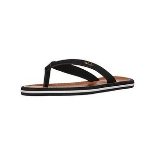 Lauren Ralph Lauren Womens Ryanne Flat Sandals Nubuck Contrast Trim