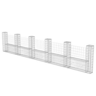 "vidaXL Gabion Basket U-Shape Steel 224.4""x7.9""x39.4"""