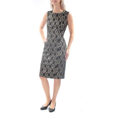TAHARI Womens Gold Sleeveless Knee Length Party Dress Size 6