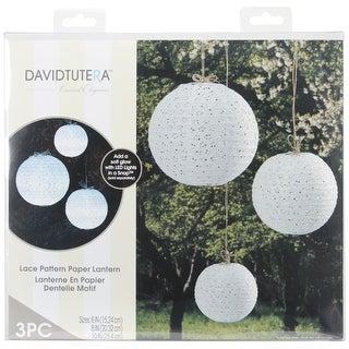 "David Tutera Paper Lanterns 6"", 8"" & 10"" 3/Pkg"