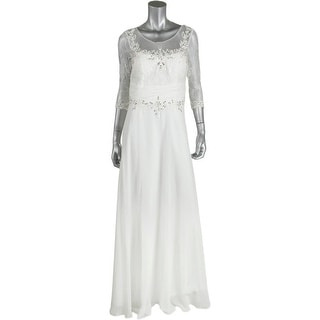 Decode 1.8 Womens Embellished Full-Length Wedding Dress