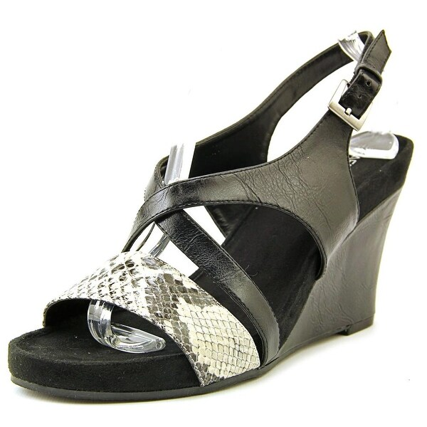 Aerosoles Plushed Together Women Black/White Snake Sandals