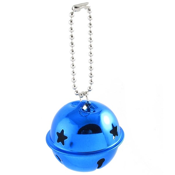 Unique Bargains Hollow Out Star Design 40mm Dia Ring Bell Decor Royalblue for Christmas Tree