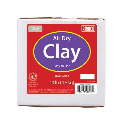 Air Dry Clay, Gray, 10 lbs.