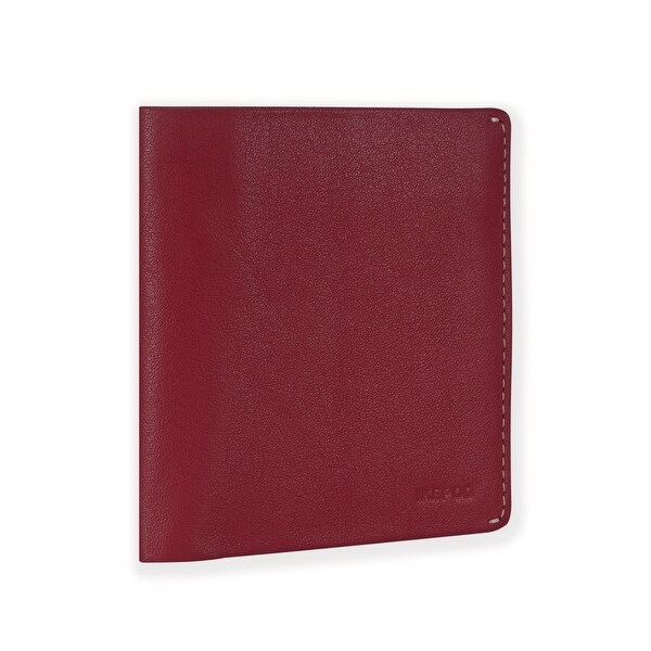 Ikepod Slim Carry Wallet (Red of 7 Colour) [Italy Made // Top Leather] [RFID Blocking and Slim Stitching!]