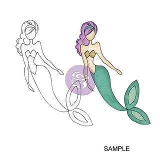 """Julie Nutting Mixed Media Cling Rubber Stamps-SeaSallie Mermaid 5.75""""X8"""""""