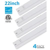 22-inch 16W Color Changeable LED Under Cabinet Light, Pack of 4