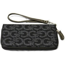 Wristlet Clutch Wallet Wrist Strap Fits Cards Cell Phone, Black
