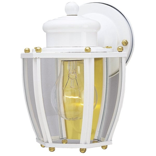 Westinghouse 66962 One-Light Outdoor Wall Lantern, White Finish